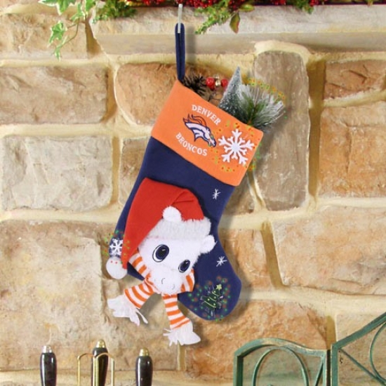 Denver Broncos Fiber Optic Mascot Stocking