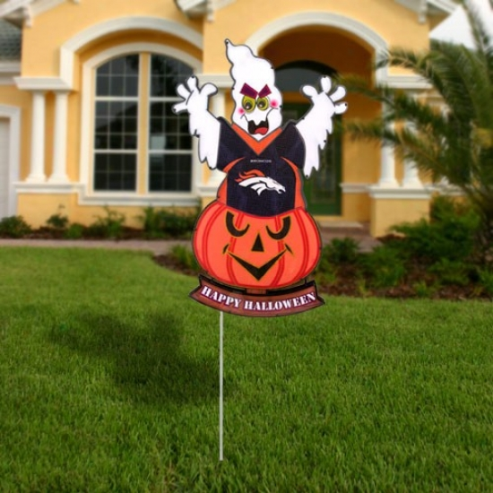 Denver Broncos Halloween Light-up Ghost Figurine