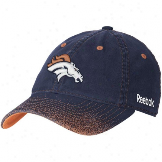 Denver Broncos Cardinal's office : Reebok Denver Broncos Ladies Navy Blue 2nd Be ~ed Fadeout Flex Fit Cardinal's office
