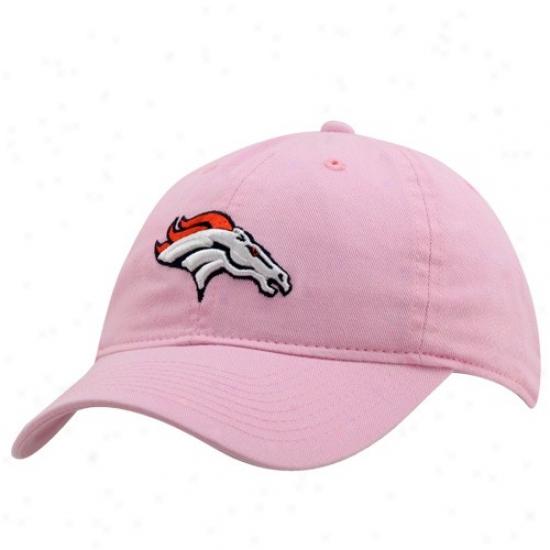 Denver Broncos Hat : Reebok Denver Broncos Pink Basic Logo Clownish gait Adjustable Hat