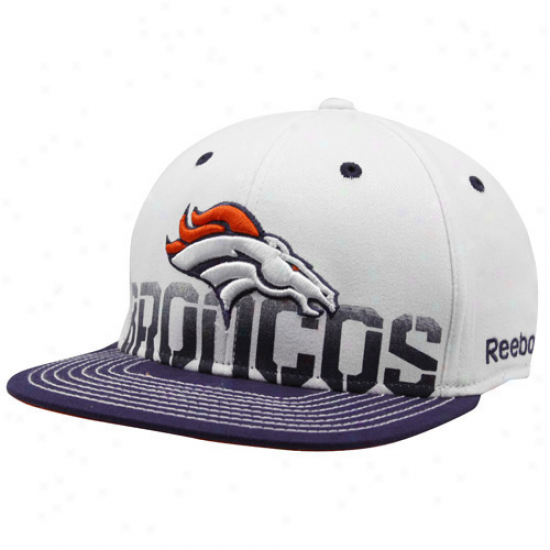 Denver Broncos Hat : Reebok Denver Broncos Of a ~ color Pro Shape Player Sideline Flex Fit Hat