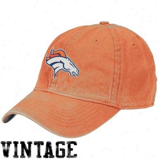 Denver Broncos Hats : Reebok Denver Broncos Orange Arm Flex Fit Vintage Hats