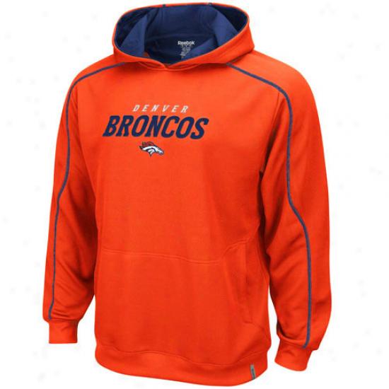 Denver Broncos Hoodies   Reebok Denver Broncos Orange Active Pullover  Hoodies 738cd5055