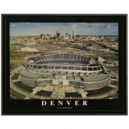 Denver Broncos Invesco Fied Stadium Framed Picture