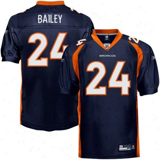 Denver Broncos Jersey : Reebok Champ Bailey Denver Broncos Authentic Jersey - Navy Blue