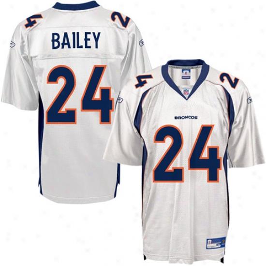 Denver Broncos Jersye : Reeboj Nfl Equipment Denver Broncos #24 Champ Bailey White Replica Football Jersey