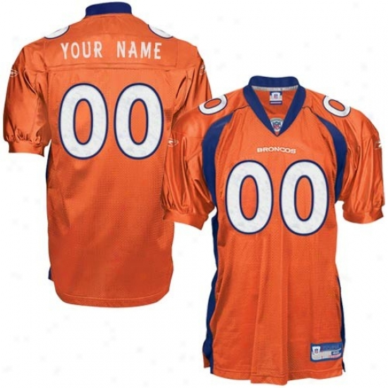 Denver Broncos Jerseys : Reebok Nfl Equipment Denver Broncos Orange Authentic Alternate Customized Jerseys