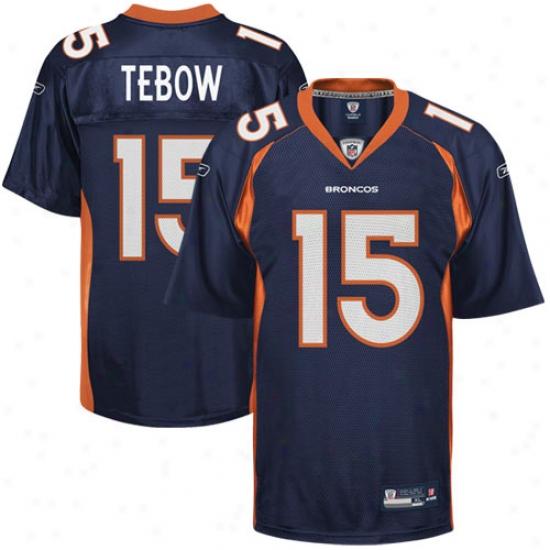 Denver Broncos Jerseys : Reebok Tim Tebow Denver Broncos Replica Jerseys - Navy Blue