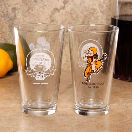 Denver Broncos Legacy 2-pack 16oz. Glasses