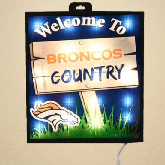 Denver Broncos Light Up Wall Window Sign The Web Sport