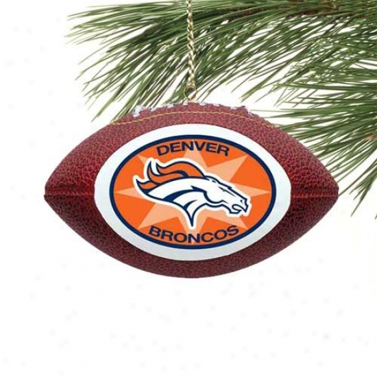 Denver Broncos Mini Football Ornament