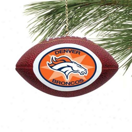 Denver Broncos Mini Football Ornament
