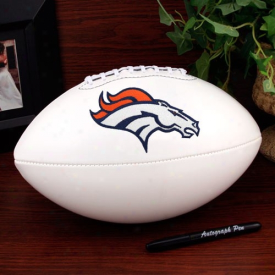 Denver Broncos Official Full Size Autograph Football