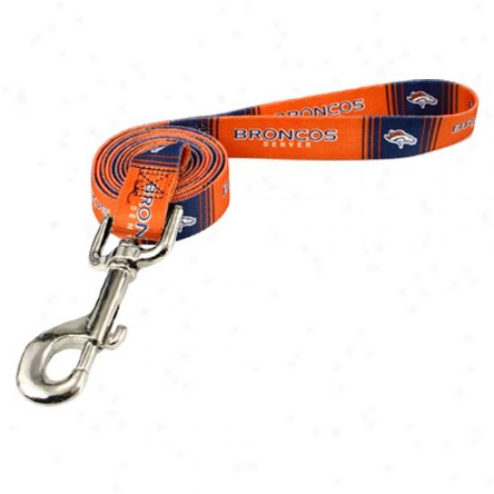 Denver Broncos Orange 6' Leash