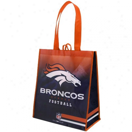 Denver Broncos Orange-navy Blue Fade Reusable Tote Bag