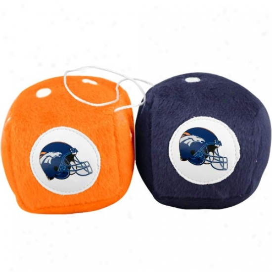 Denver Broncos Plush Team Fuzzy Dice