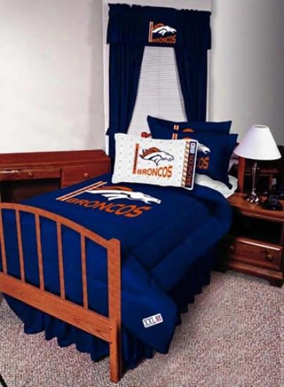 Denver rBoncos Queen Size Bed Skirt