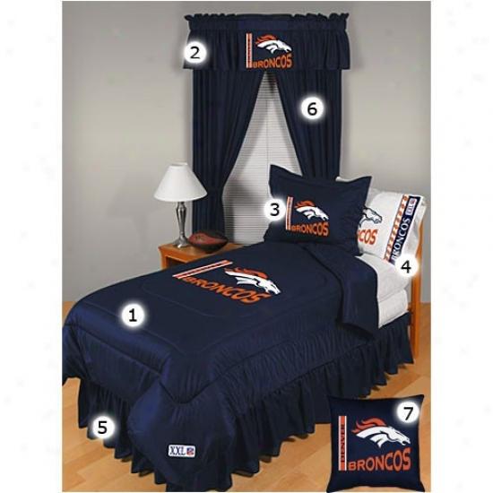 Denver Broncos Queen Size Locker Room Bedroom Set