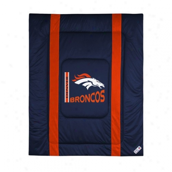 Denver Broncos Queen/full Sizr Sideline Comforter