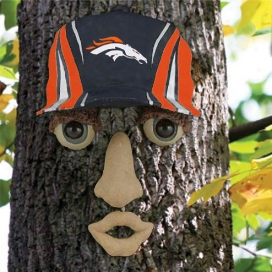 Denver Broncos Resin Tree Face Ornament