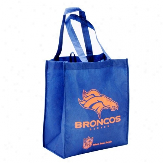 Denver Broncos Royal Blue Reusable Tote Bag