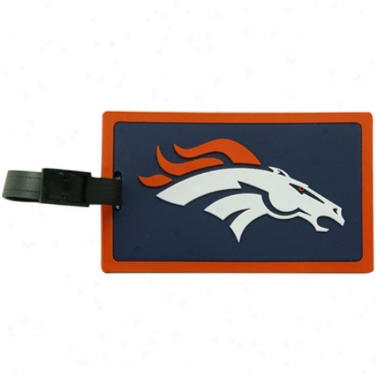 Denver Broncos Rubber Luggage Cue