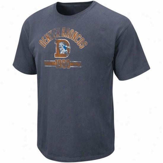 Denver Broncos Shirt : Denver Broncos Navu Blue Legacy Vintage Stadium Wear Shirt