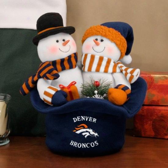 Denver Broncos Snowmen Top Hat