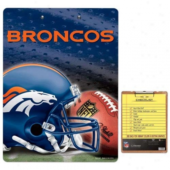 Denver Broncos Team Logo Clipboard