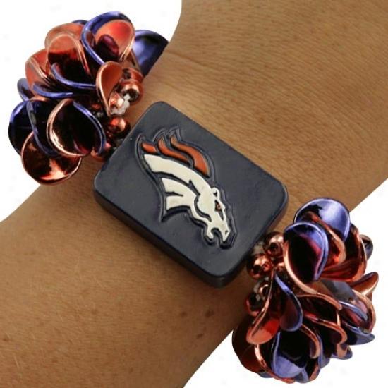 Denver Broncos Team Vital essence  Beaded Bracelet