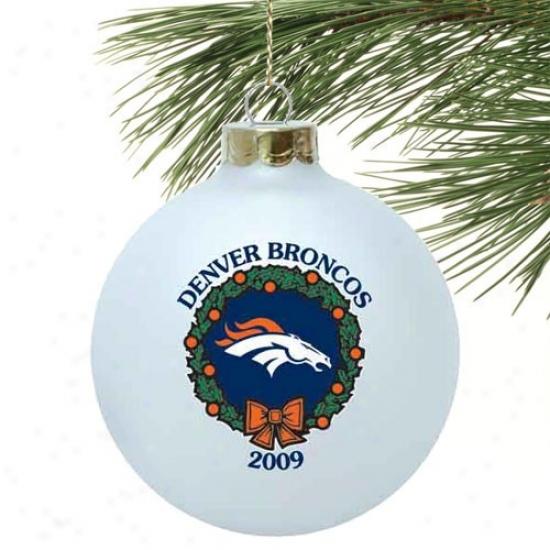 Denver Broncos White 2009 Collectors Series Ornament