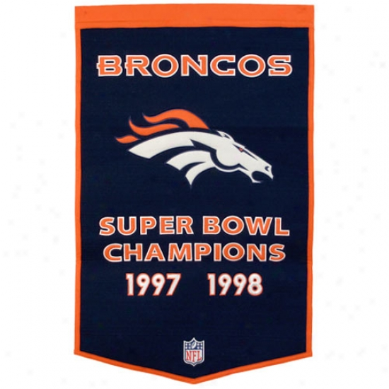 Denver Broncos Wool Dynasty Banner