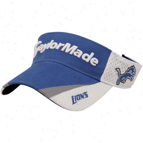 Detroit Lion Hat : Taylormade Detroit Lion Light Blue-white 2010 Adjustable Visor