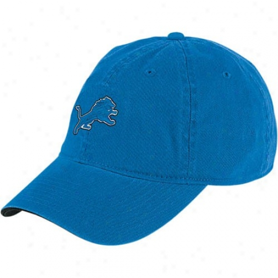 Detroit Lion Hats : Reebok Detroit Lion Blue Youth Bawic Logo Slouch Hsts