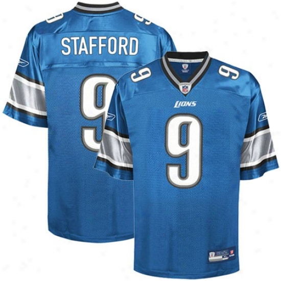 Detrout Lion Jersey : Reebok Nfl Equipment Detroit Lion #9 Matt Stafford Youth Ligth Blue Replica Football Jersey