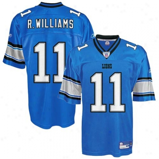 Detroit Lion Jersey : Reebok Nfl Equipment Detroit Object of interest #11 Roy Williams Livid Youth Replica Jersey