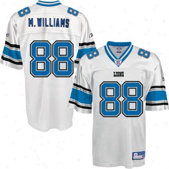 Detroit Lion Jerseys : Reebok Nfl Equipment Detroit Lion #88 Mike Williams White Replica Foorball Jerseys