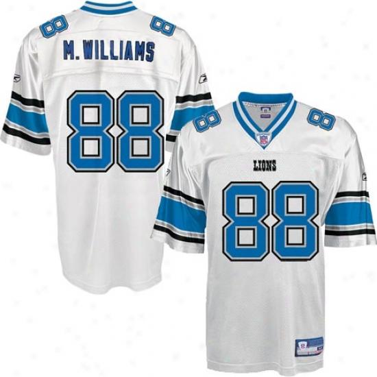 Detroit Lion Jerseys : Reebok Nfl Equipment Detroit Lion #88 Mike Williams White Replica Foorball Jerseys
