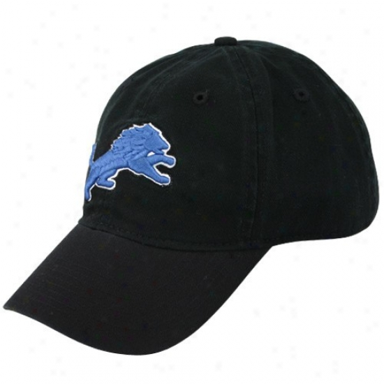 Detroit Lion Merchandise: Reebok Detroit Lion Youth Dark Basic Lovo Clownish gait Hat