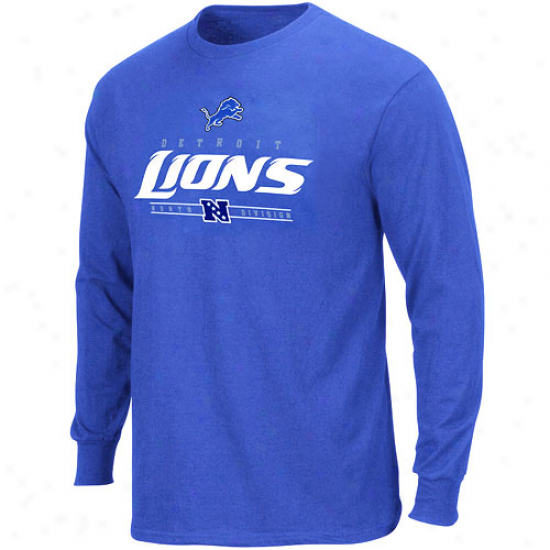 Detroit Lion Tee : Detroit Object of interest Light Blue Dangerous Victory Iv Long Sleeve Tee