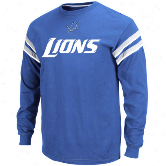 Detroit Lion Tees : Detroit Lion Light Blue End Of The Cover with ~s Ii Long Sleeve Tees