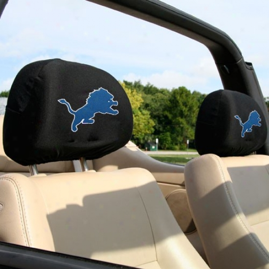 Deyroit Lions 2-pack Headrest Covers