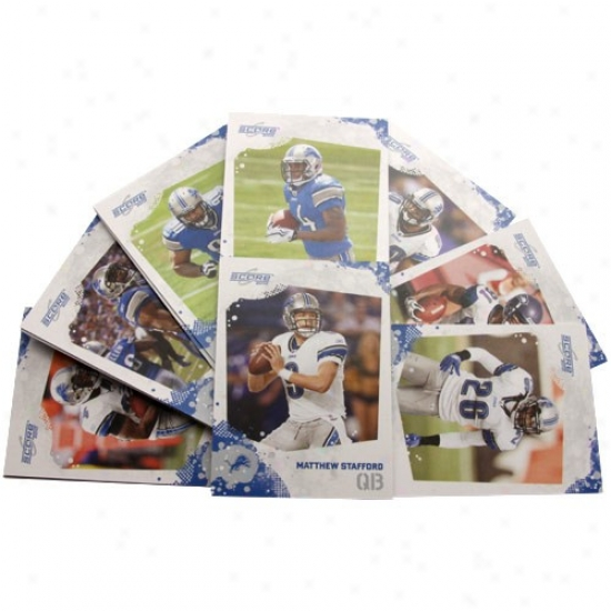 Detriot Lions 2010 Team Set