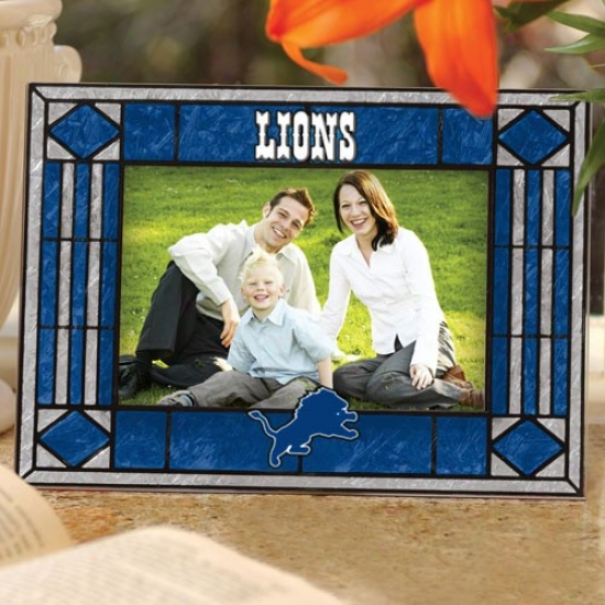 Detroit Lions Art-glass Horizontal Picture Frame