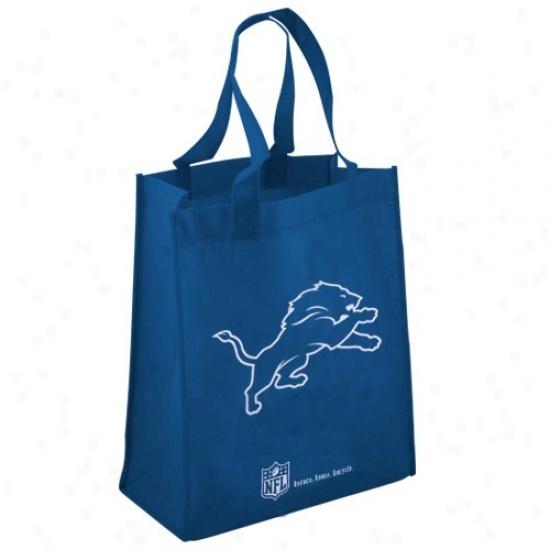 Detroit Lions Blue Reusable Tote Bag