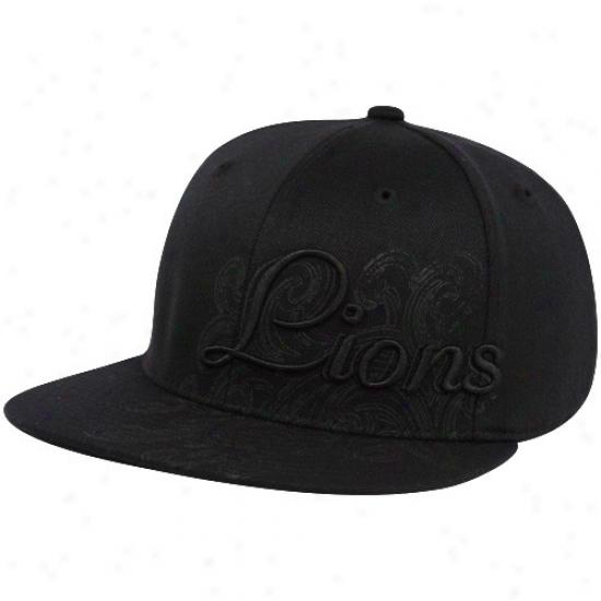 Detroit Lions Cap : Reebok Detroit Lions Dismal People of ~ Flex Fit Cap