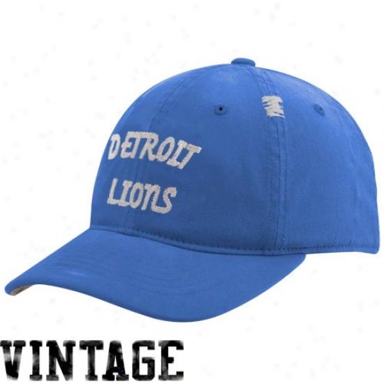 Detroit Lions Caps : Reebok Detroit Lions Lightt Dismal Vintage Flex Slouch Caps