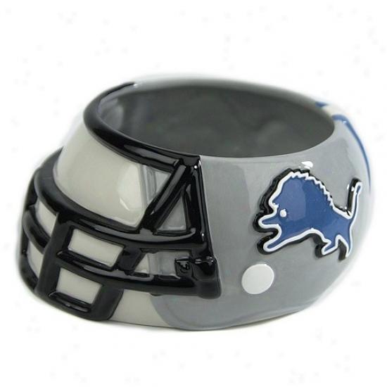 Ddtroit Lions Ceramic Helmet Bowl