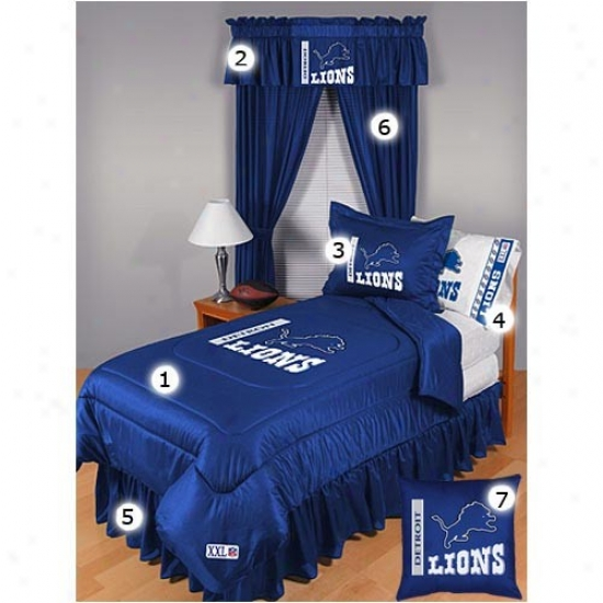 Detroit Lions Full Size Locker Room Bedroom Set