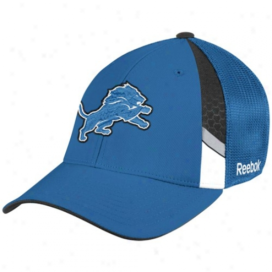Detroit Lions Hat : Reebok Detroit Lions Youth Light Blue  Draft Day Flex Fit Hay